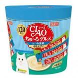 CIAO SC-212「超奴」美食 鰹魚海鮮綜合 3種味 (120本 / 桶裝)