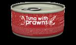 Naturea 無榖物鮮肉貓罐頭 - 吞拿魚+蝦 80g x 12 罐同款原箱優惠