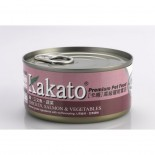 Kakato 834 雞+三文魚+蔬菜 170G