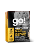 Go! Solutions 1266021 低敏美毛系列 無穀物鴨肉肉醬 貓濕糧 6.4oz (盒裝)