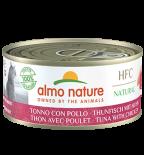 almo nature [5129] - HTC 150g大罐系列 Tuna & Chicken  吞拿魚+雞肉貓罐頭 150g x 24罐原箱優惠