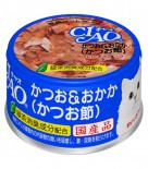 CIAO A10 鰹魚+木魚片(鰹魚節) 貓罐頭 80g x 24罐原箱優惠