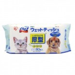 *推介用品* IRIS - 銀離子抗菌除臭寵物專用濕紙巾 80片裝