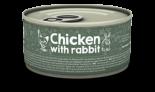 Naturea 無榖物鮮肉貓罐頭 - 雞肉+兔肉 80g x 12 罐同款原箱優惠