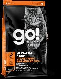 GO! SOLUTIONS 1302954 - 護膚美毛系列 三文魚貓糧配方 8lb