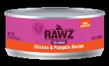 RAWZ 96% RZCCP155 雞肉及南瓜肉絲全貓罐頭 155g