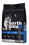North Paw 無穀物雞肉+魚 體重控制、高齡貓配方 貓糧 2.25kg x 2包特惠裝 (黑藍) [NPCAT2]