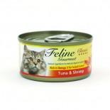 Feline Gourmet FG70-6 化毛球 吞拿魚+蝦 80g