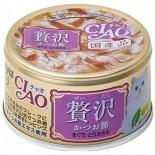 CIAO 贅沢  A-145 木魚片 吞拿魚+雞肉 貓罐頭 80g