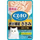 CIAO袋裝貓濕糧 IC-330 水份補給 雞肉 (木魚味) 40g